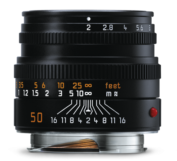 Leica Summicron-M 1:2/50mm, schwarz eloxiert
