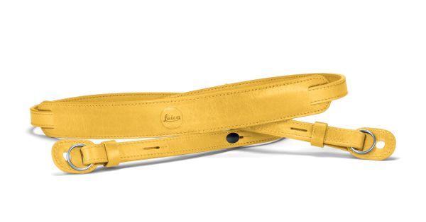 Tragriemen mit Schutzlasche, Leder, gelb