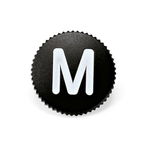 """Soft Release Button """"M"""", 12mm, schwarz"""