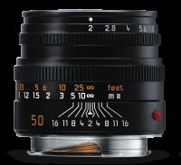 Leica Summicron-M 50 mm f/2, negro anodizado