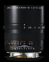 Leica APO-Summicron-M 75 мм, f/2, ASPH, черный, анодированный